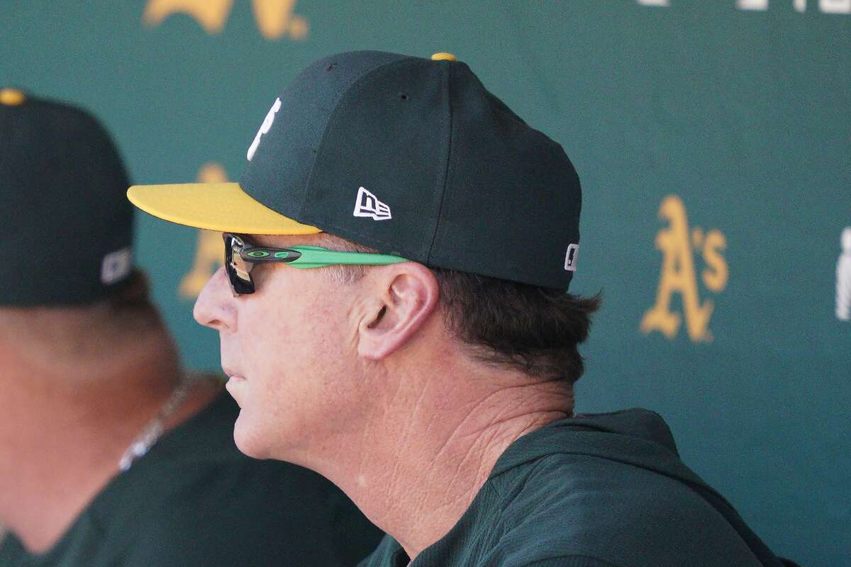 Oakland Athletics manager Bob Melvin watches the field during a baseball game against the Detroit Tigers Sunday, Sept. 8, 2019, in Oakland, Calif. Oakland won 3-1. (AP Photo/Tony Avelar)