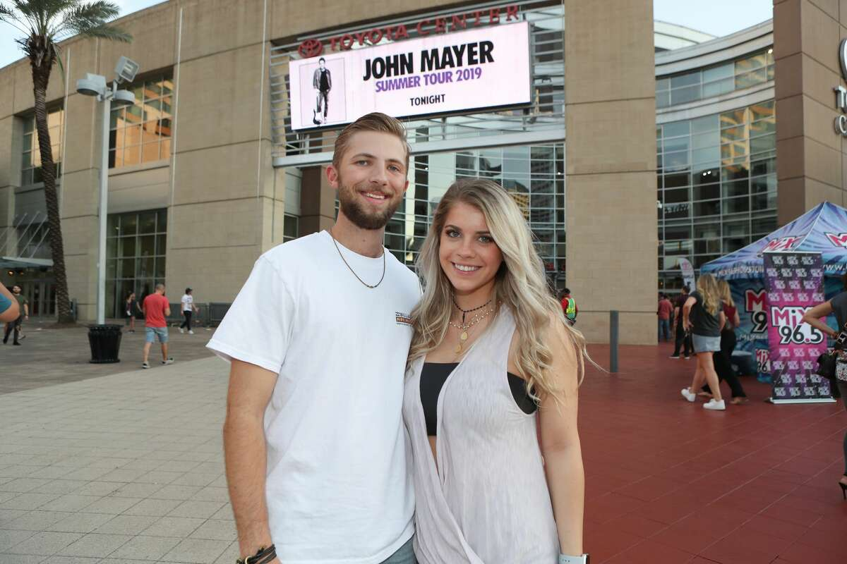 Fans were excited to attend the John Mayer concert at the Toyota Center Sunday, Sept. 8, 2019, in Houston.