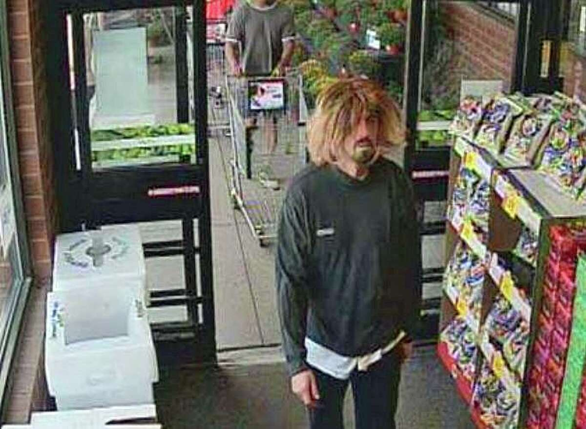 A man - believed to be wearing a blonde wig - robbed a People's United Bank branch on Sunday, Sept. 8, 2019. Manchester police said the robbery happened at 12:37 p.m. inside a Stop & Shop located at 286 Broad St.