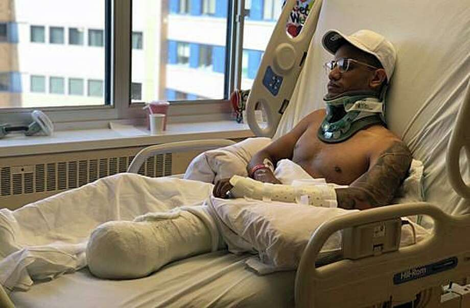 The family of a Bridgeport man, who lost a leg in a Merritt Parkway hit and run crash, is seeking donations to help his recovery. Ronal Perez, 28, the owner of a Bridgeport barber shop, was riding his motorcycle on the Merritt Parkway around 9:30 p.m. Aug. 11, 2019 when he was struck by a hit and run driver. Photo: Contributed Photo