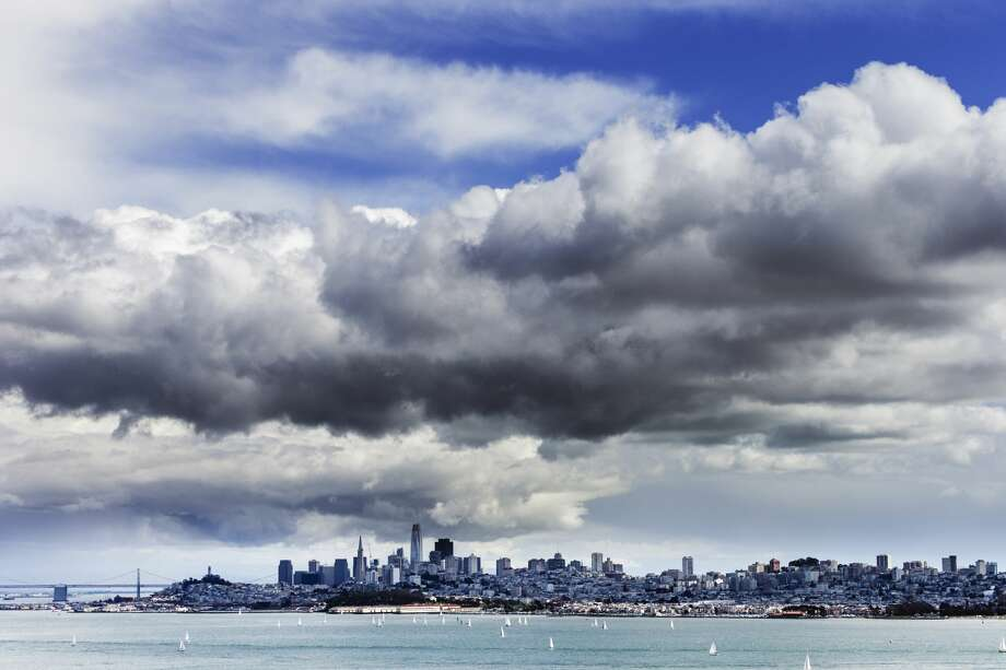 FILE - High clouds collect over San Francisco seen from the north end of the Golden Gate Bridge View, along highway 101 in Marin County. Photo: Ron Koeberer / Aurora Photos/Getty Images/Aurora Creative