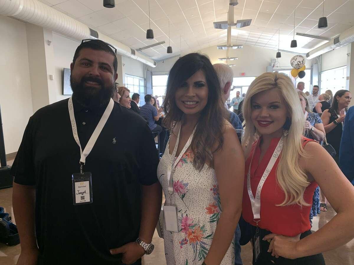 Backstage: Joseph Heredia, from left, Angela Prather and Leah Matsinger
