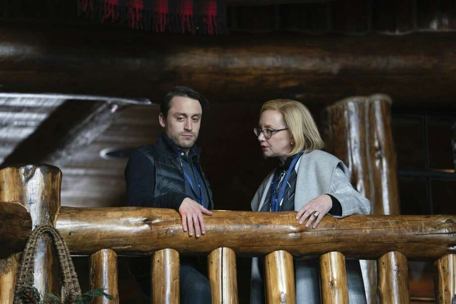 "Kieran Culkin, left, and J. Smith-Cameron in an upcoming episode of ""Succession."" Photo: Handout Photo By Peter Kramer/HBO / Handout"