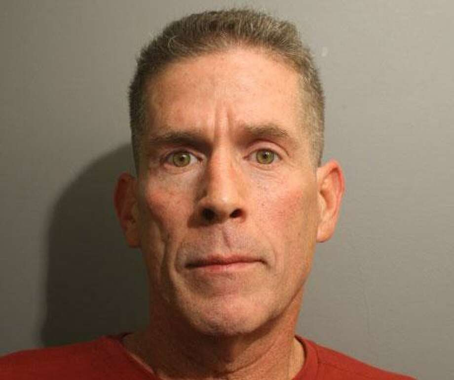 Brian Morris, 55, of Stamford was arrested by Wilton police for having an outstanding warrant. Photo: Wilton Police Dept. Photo / Wilton Bulletin Contributed