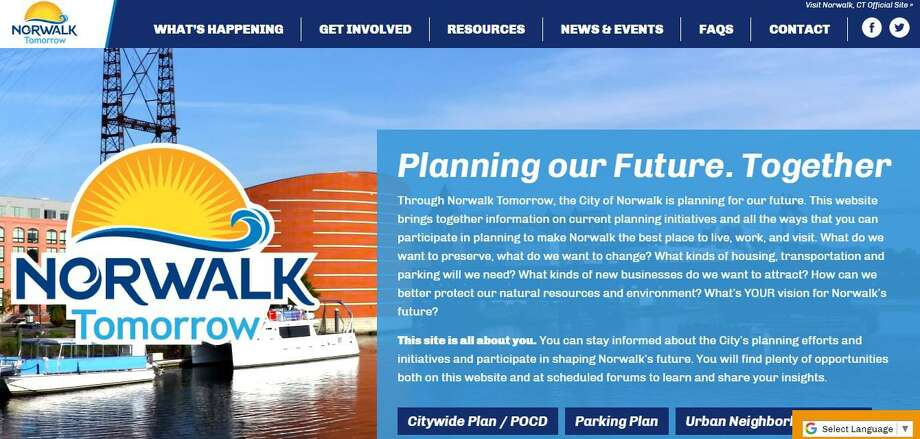 The Norwalk Tomorrow Planning website will be updated to better serve the city's needs. Photo: Courtesy Of Norwalk Tomorrow / Norwalk Hour Contributed