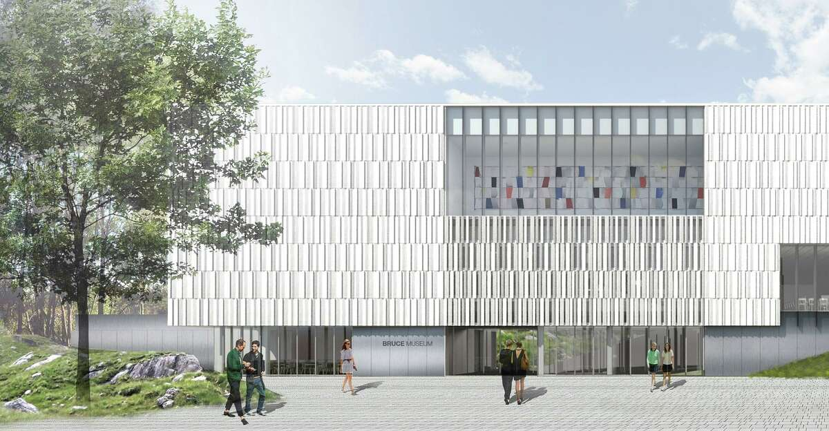 An artist rendering of the Bruce Museum's new Art Wing.