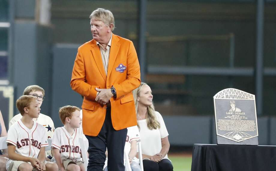 PHOTOS: Larry Dierker through the years Larry Dierker during the Houston Astros inagural Hall of Fame induction ceremony before the start of an MLB game at Minute Maid Park, Sunday, August 3, 2019. >>>Look back at special moments from Larry Dierker's time with the Astros ... Photo: Karen Warren/Staff Photographer