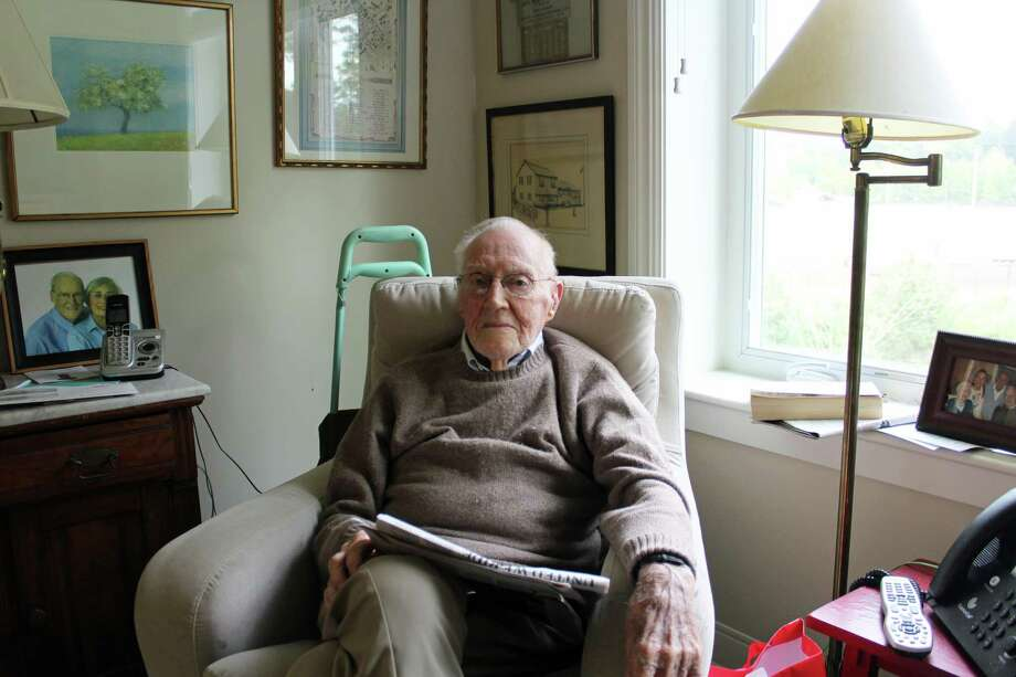 102-year-old Bill Cornell is a resident at Sturges Ridge. Photo: Rachel Scharf / Hearst Connecticut Media