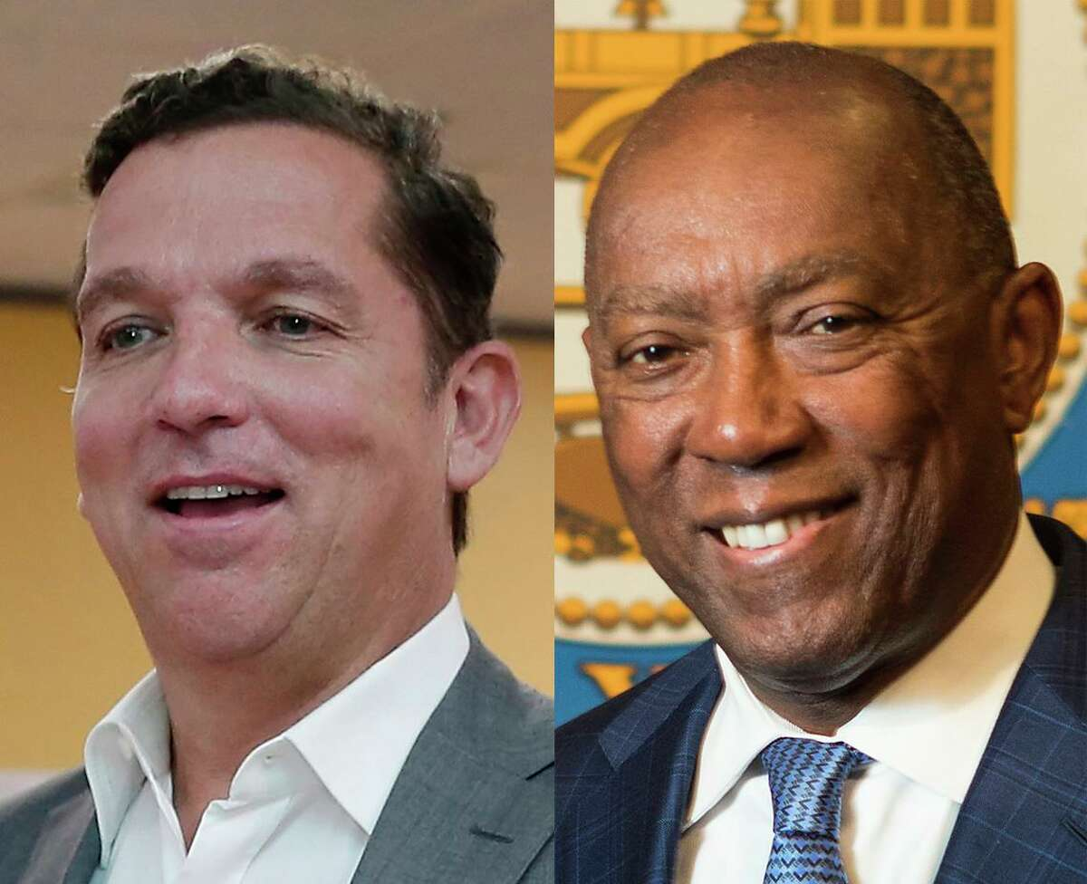 The survey found 56 percent of likely voters support the mayor, while 34 percent back Buzbee.