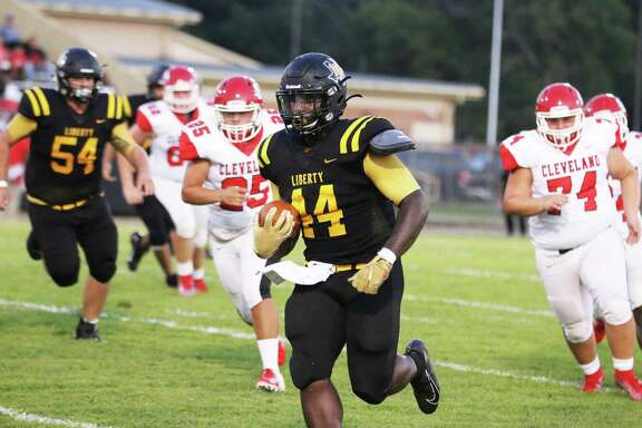 Liberty junior running back Terrick Peterson scrambled, weaved, and slashed through the Indian defense Friday night leading the Panther running game to a non-district victory.