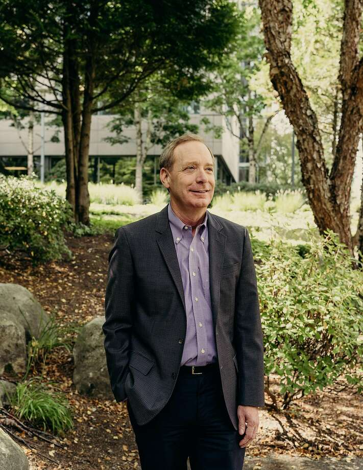 President Brad Smith and Microsoft have become advocates on policy matters like consumer privacy. Photo: Kyle Johnson / New York Times