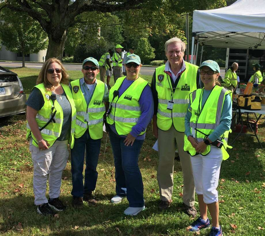 New Canaan CERT contingent Lauren Cerretani, Steve Orteig, Charlene Petrucci, Kevin McIntosh and Wendy Lynch. Photo: Contributed Photo.