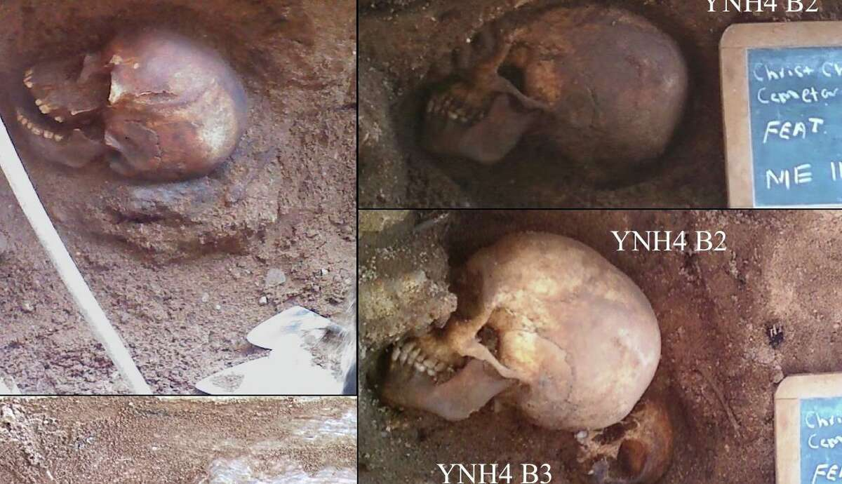 Four skeletons were excavated from a construction site during the renovation of Yale New Haven Hospital in July 2011.
