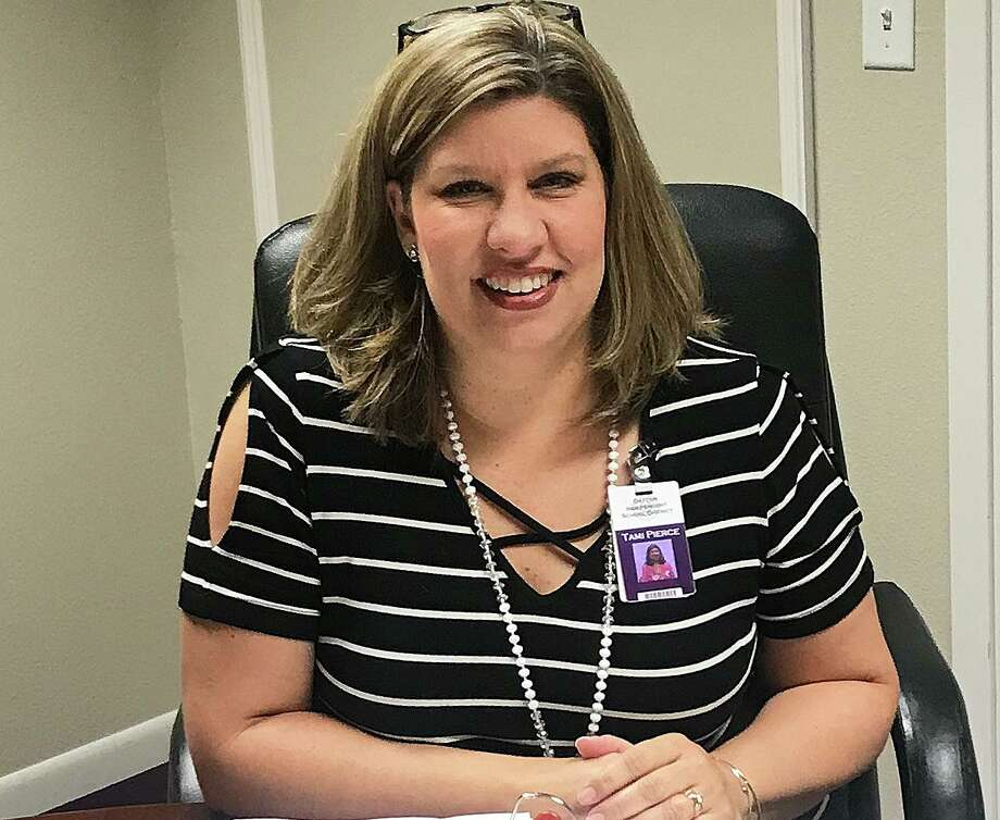 Tami Pierce, associate superintendent of business services for Dayton ISD, delivered some good news to the school board and taxpayers when she announced that the district could adopt a 10-cent reduction in the tax rate. Photo: Submitted