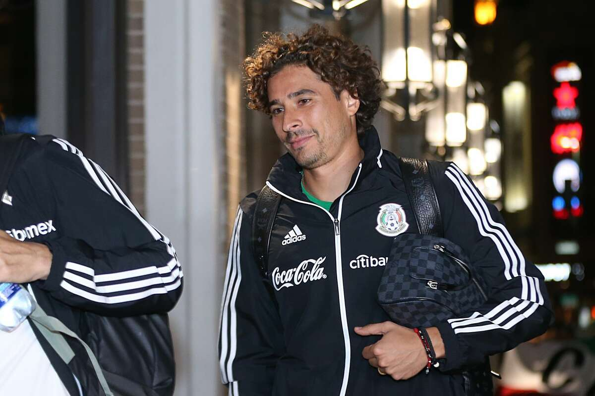 Goalkeeper of Mexico Guillermo Ochoa looks during the Mexico National Team arrival to Hotel Hilton Palacio del Rio on September 8, 2019, in San Antonio.