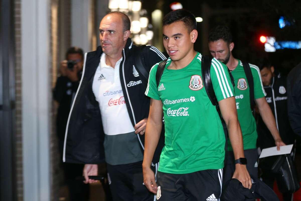 Carlos Rodriguez walks during the Mexico National Team arrival to Hotel Hilton Palacio del Rio on September 8, 2019, in San Antonio.