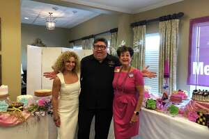 At a cake auction held at The Village of Meyerland on Thursday, Sept. 5, Director of Business DevelopmentMarci Walters (pictured left), Kenny & Ziggy's Owner Ziggy Gruber and Director of Sales and Marketing Jane Shapiro celebrate the approximately $2,700 raised for the Alzheimer's Association.