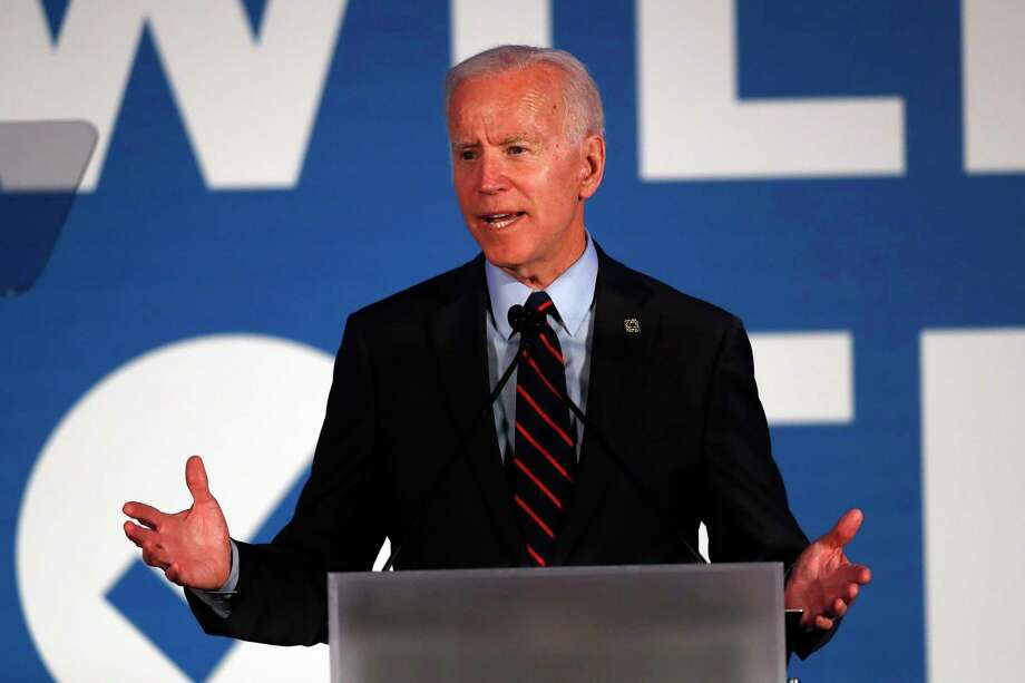 "Former Vice President Joe Biden is often viewed as the most ""electable"" Democrat running for the presidency, but his gaffes and poor debate performances have raised doubts. Photo: John Bazemore /Associated Press / Copyright 2019 The Associated Press. All rights reserved"