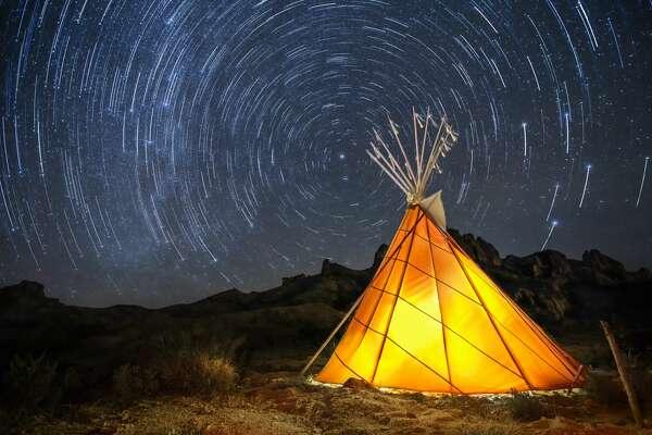 Stars are seen over Terlingua, Texas, in 2016.