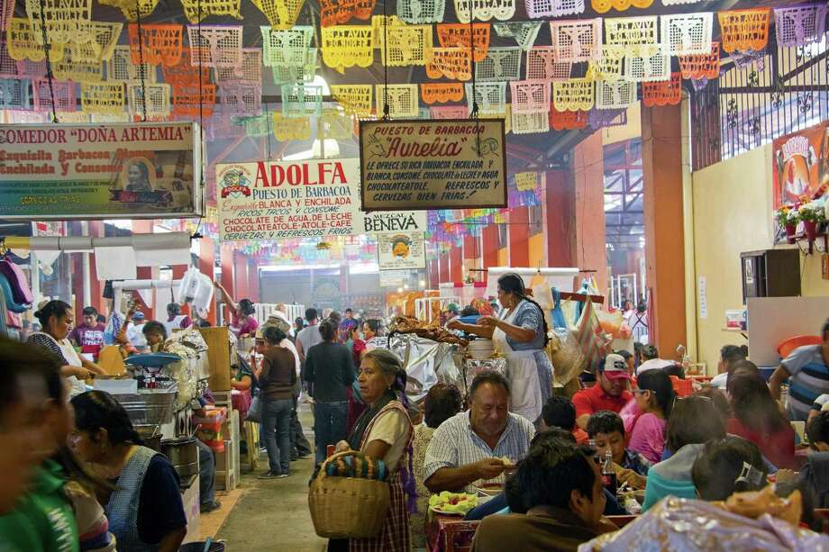 """Mercados"" by David Sterling explores the wonders of Mexico's markets. Photo: Mark Randall / University Of Texas Press"