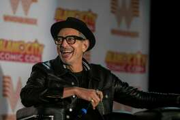 """Actor Jeff Goldblum laughs as he speaks during a panel discussion at Alamo City Comic Con, which ran in late October 2018 at the Alamodome. The San Antonio-based comic book and pop culture event will have a """"Halloween Edition"""" in early November at Sunset Station."""