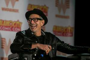 "Actor Jeff Goldblum laughs as he speaks during a panel discussion at Alamo City Comic Con, which ran in late October 2018 at the Alamodome. The San Antonio-based comic book and pop culture event will have a ""Halloween Edition"" in early November at Sunset Station."