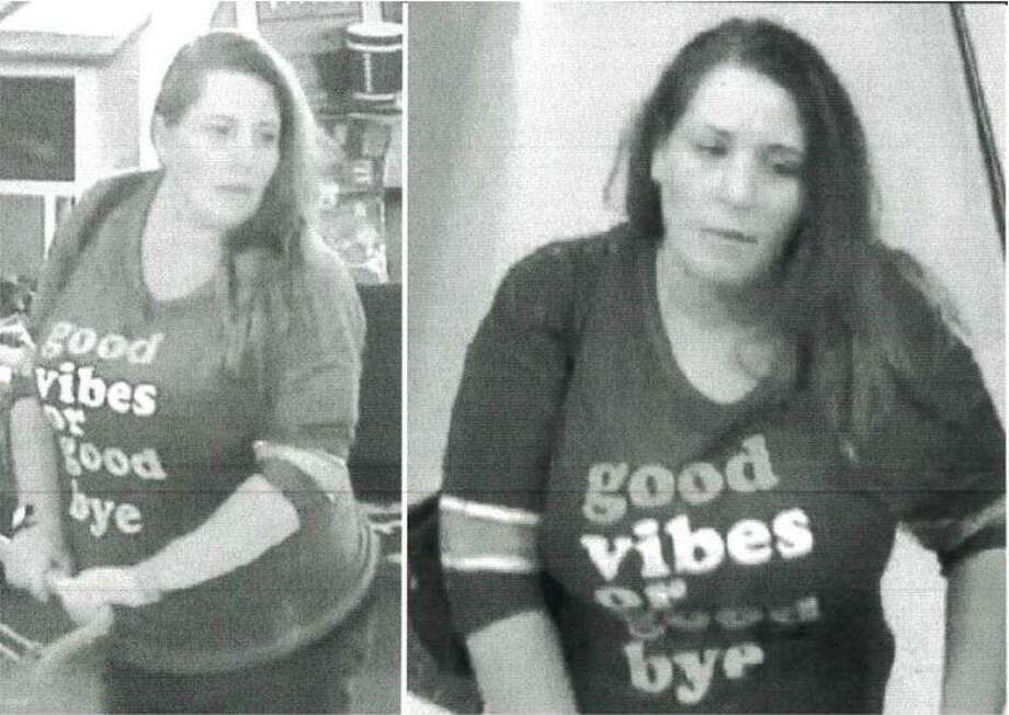 A woman is seen in surveillance video stills during a visit at a Hobby Lobby in New Caney where she allegedly stole more than $700 in art supplies. Photo: Courtesy Of The Montgomery County Sheriff's Office