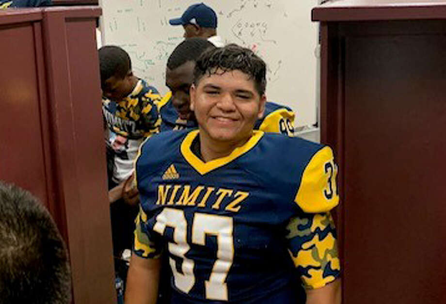 Nimitz's Devin Contreras, this week's Chron's boys athlete of the week, nailed the game-winning field goal as time expired from 22 yards out to defeat Baytown Sterling and lead the Cougars to their first 2-0 start since 2008. Photo: Handout Photo