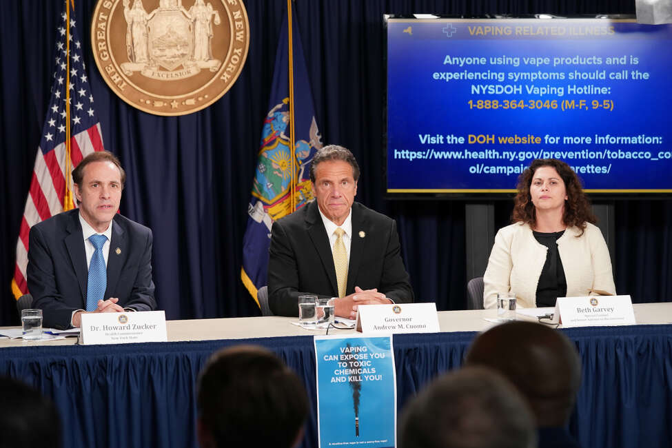 New York Gov. Andrew Cuomo announced Monday, Sept. 9, 2019 that his administration is taking several steps to address a surge of vaping-related illnesses known to have killed at least five people this summer.