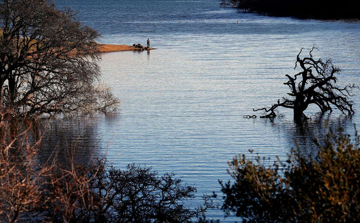 Fishing at Los Vaqueros Reservoir in Brentwood, Calif., on Friday Feb. 2, 2018. More than a dozen local water agencies are trying to tap a windfall of state funds to expand Los Vaqueros Reservoir into a regional giant that serves San Francisco and Silicon Valley.