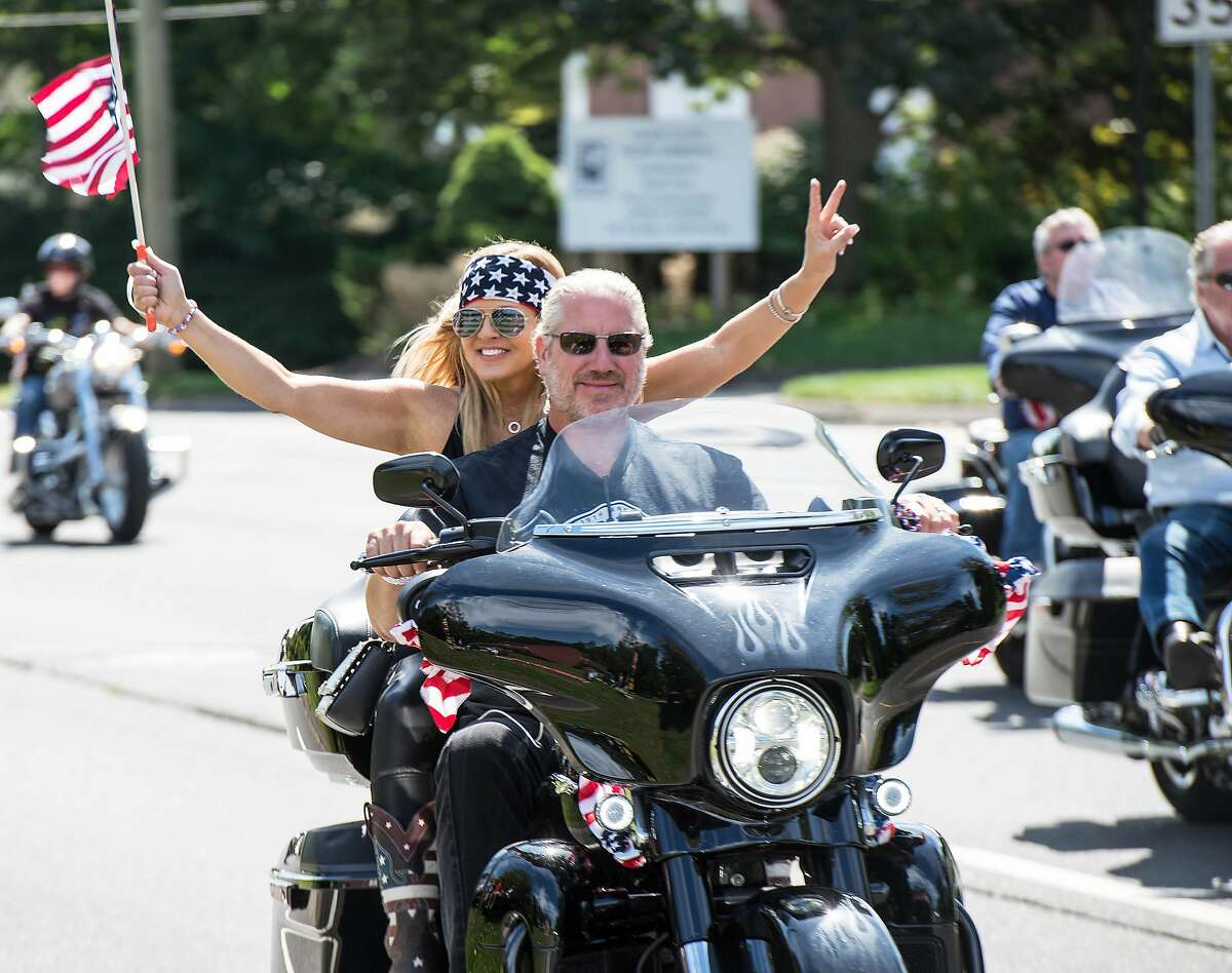 Two thousand motorcycles caravan on Route 7 in Wilton, Connecticut for the annual CT United Ride, the state's largest 9/11 tribute, on Sunday, September 8, 2019.