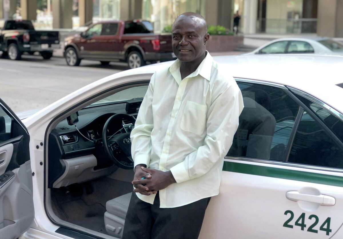 Cab driver Udochukwu Oleka said he's been waiting decades to get his own permit.