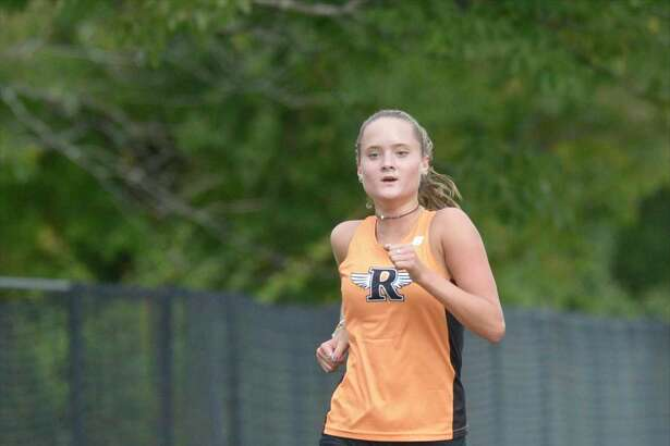 Ridgefield senior Katie Langis finished seventh in the girls Cross Country meet at Ridgefield High School including teams from Ridgefield, Fairfield Warde, Stamford and Wilton on Sept. 9 in Ridgefield. Ridgefield is off to a 15-0 start.