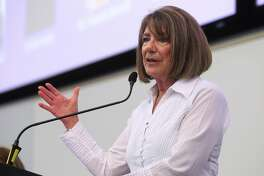 Rep. Susan Davis (D-Calif.) speaks during a panel discussion on U.S.-Iran relations at San Diego State University on Saturday, Sept. 7, 2019, in San Diego. (Hayne Palmour IV/San Diego Union-Tribune/TNS)