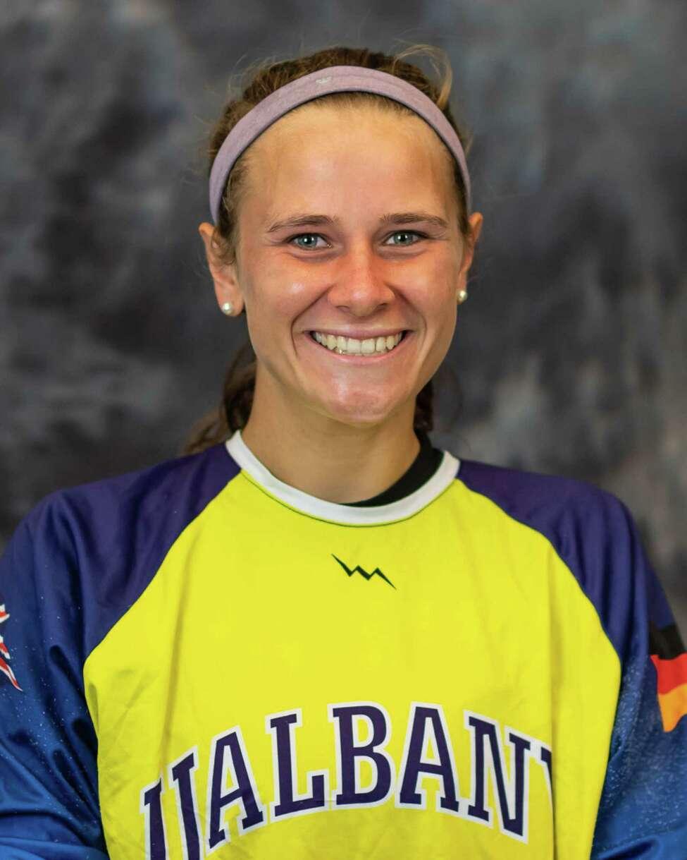 Melissa Nealon, a Shenendehowa High graduate, for the Albany field hockey team. (Albany Athletics)