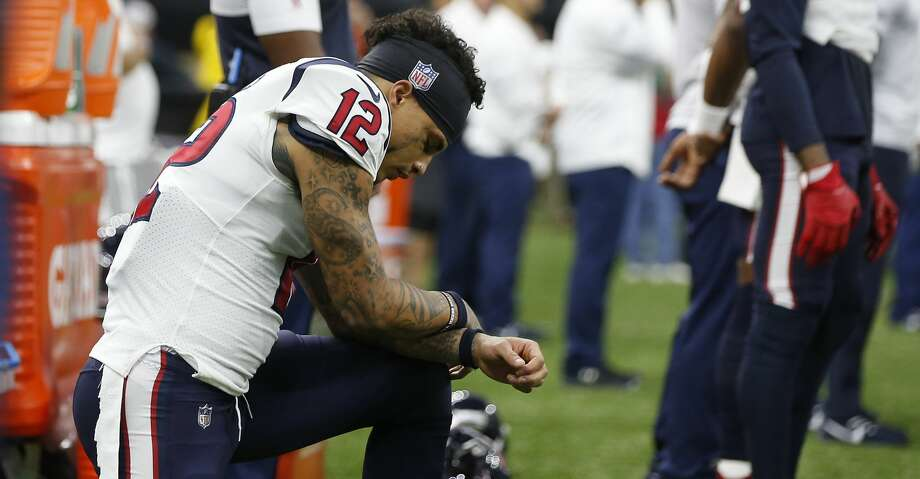 PHOTOS: Texans vs. Saints Houston Texans wide receiver Kenny Stills (12) kneels during the national anthem before an NFL football game against the New Orleans Saints at the Mercedes-Benz Superdome on Monday, Sept. 9, 2019, in New Orleans. Browse through the photos to see action from the Texans' season opener against the Saints on Monday. Photo: Brett Coomer/Staff Photographer
