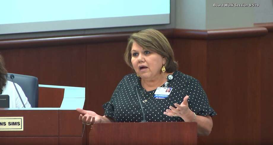 Linda Macias, chief academic officer for Cy-Fair ISD, during the CFISD board of trustee work session on Sept. 5, 2019 Photo: Provided By Cy-Fair ISD