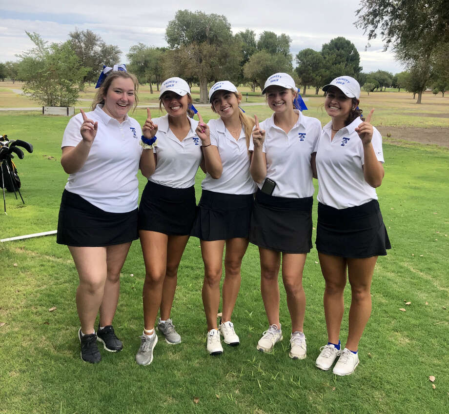 The Trinity girls golf team poses after winning the Monahans Fall Invitational on Monday at the Ward County Golf Course Photo: Courtesy Photo