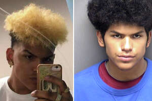 Devin Seth Perez, 17,  is accused of shooting an SAPD officer just after midnight Monday in the 700 block of Kendalia.
