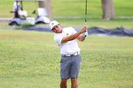 Midland College freshman JT Pittman follows his shot during the Andrew College/AM Invitational over the weekend at Andrews County Golf Course.