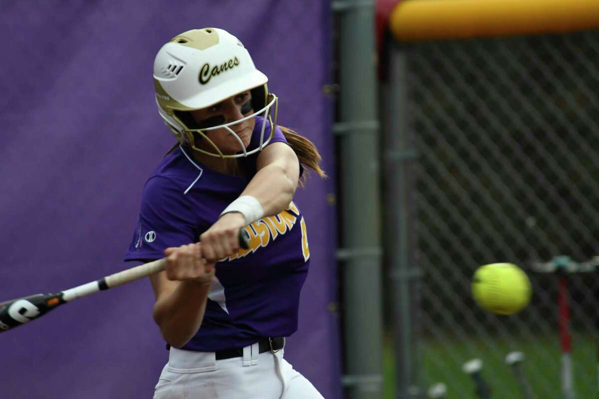 Ballston Spa designated hitter Ana Gold hits a grand slam during a game against Guilderland in Ballston Spa, N.Y., on Tuesday, May 1, 2018. (Jenn March, Special to the Times Union)