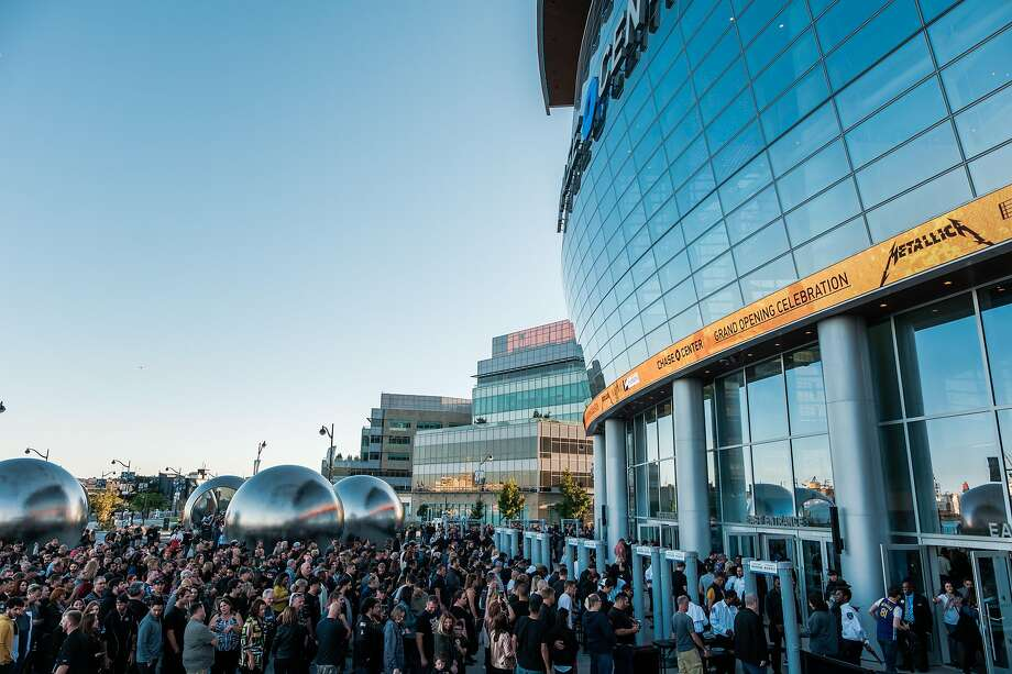 Metallica fans gather around the Chase Center before a recent Metallica-S.F. Symphony concert. A stop at the new home of the Golden State Warriors also affords an introduction to the Mission Bay neighborhood. Photo: Nick Otto / Special To The Chronicle