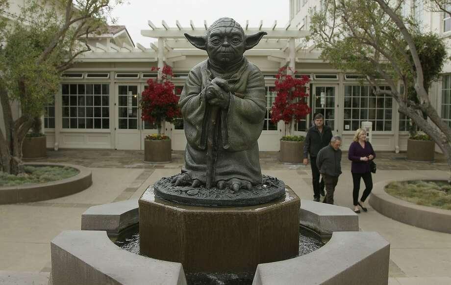 The Yoda fountain at Lucasfilm in the Presidio. Photo: Jeff Chiu / Associated Press 2012