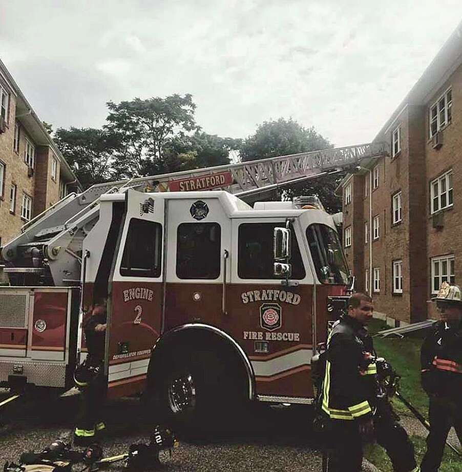 A failed electrical cord has been determined the cause of a fire that damaged a Ferry Boulevard apartment in Stratford on Monday, Sept. 9, 2019. Photo: Stratford Professional Firefighters IAFF 998 Photo Via Facebook