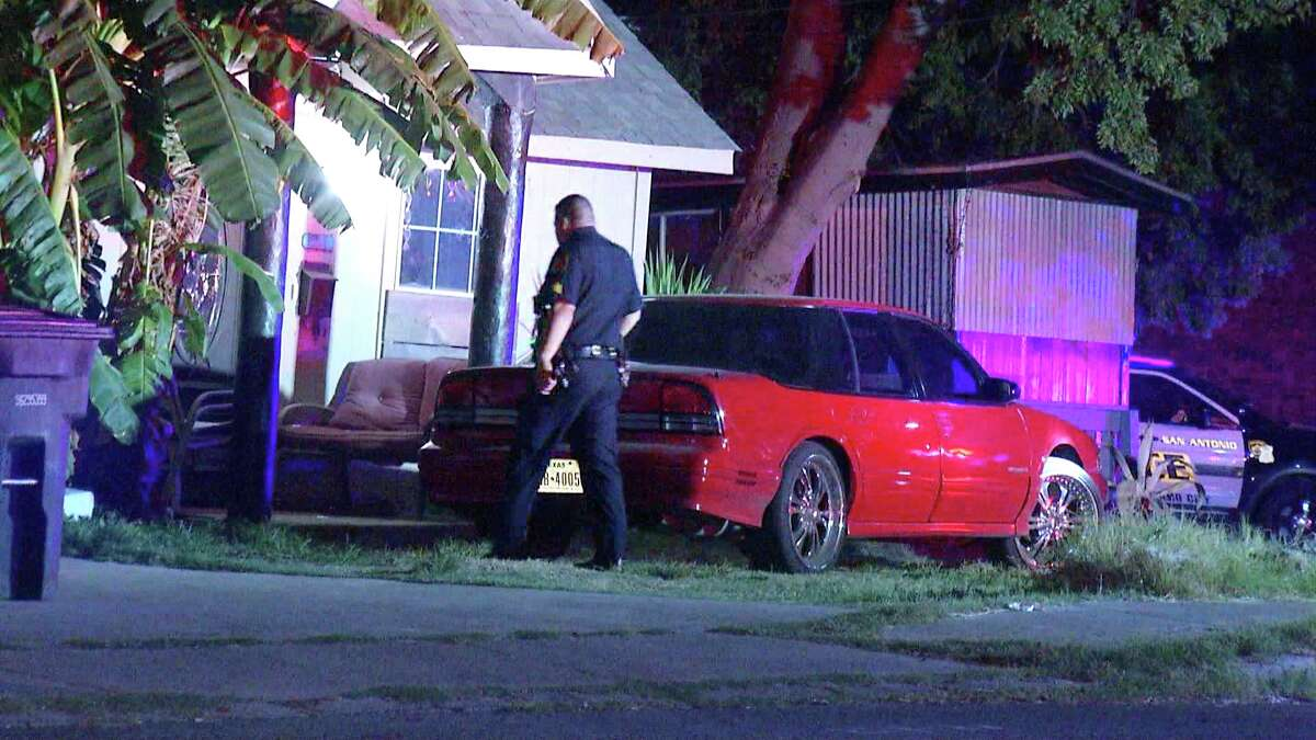 A woman was hospitalized late Monday evening after a drive-by shooting on the Northwest Side left her with a gunshot wound, San Antonio police said.