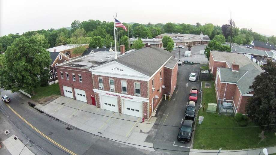 The Ridgefield Fire Department. Photo: Sean McEvoy / Aerial 360 Solutions
