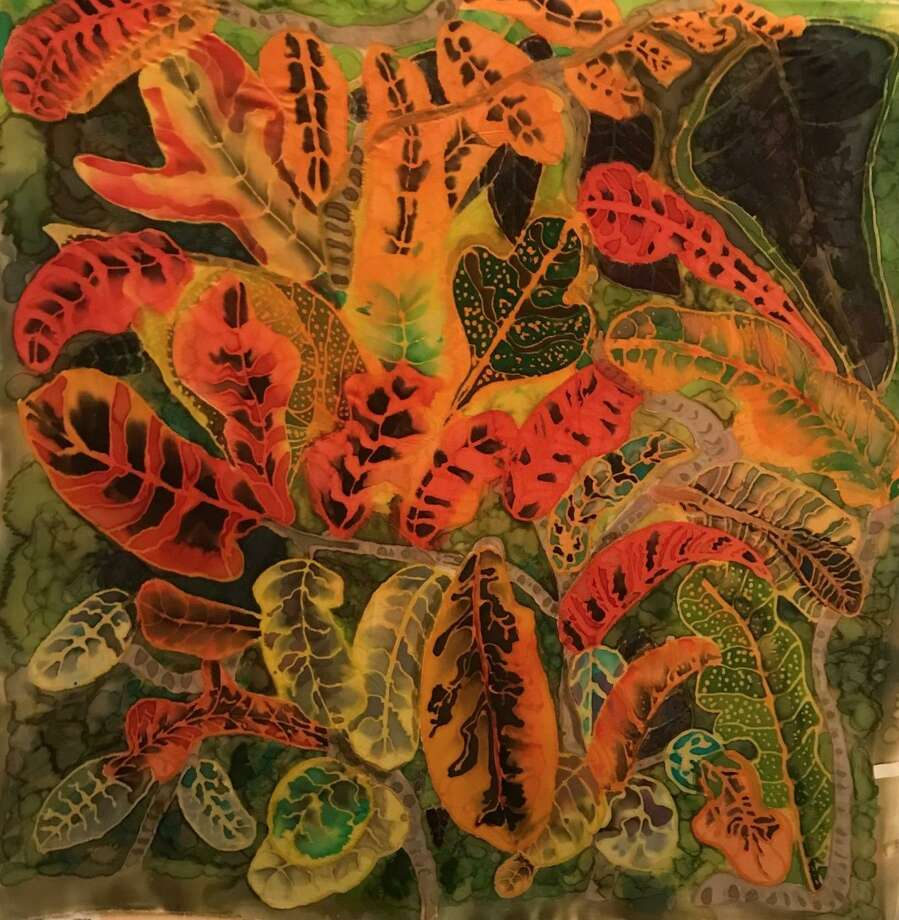 Cuba II by Johanna Tiemann is featured in Wilton Library's exhibition, Silk Painters International, on view now through Oct. 3. Photo: Contributed Photo / Wilton Library / Wilton Bulletin Contributed