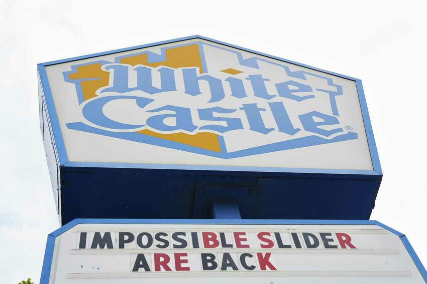 White Castle signage informs customers that the Impossible Foods Inc. Slider is back in stock outside a restaurant in the Sunnyside neighborhood in the Queens borough of New York. White Castle began offering the Impossible Slider in limited markets but they have now rolled out nationwide.