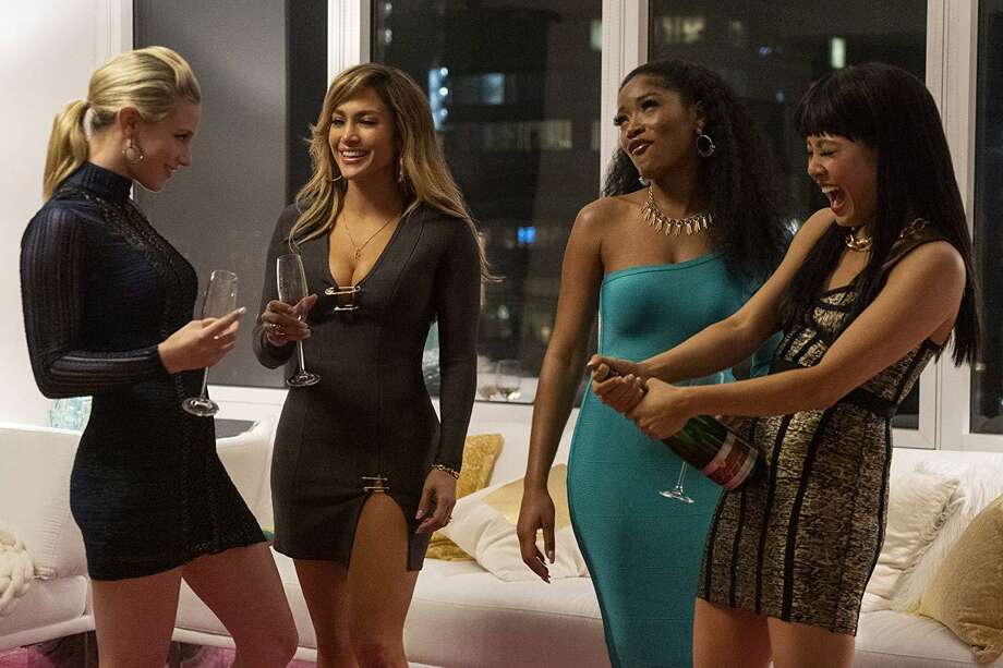 Lili Reinhart, Jennifer Lopez, Keke Palmer and Constance Wu in 'Hustlers' Photo: Barbara Nitke/STX Films