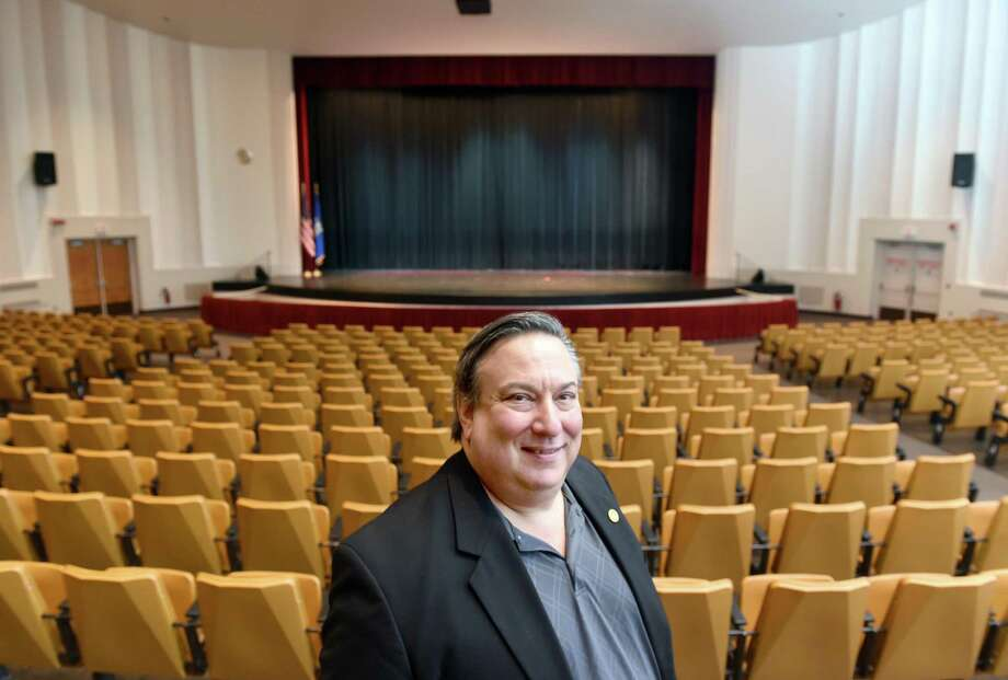 Steve Cooper, executive director of the Milford Performance Center, is photographed inside the Veterans Memorial Auditorium in Milford on Dec. 30, 2016. Photo: Arnold Gold / New Haven Register